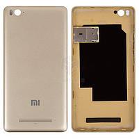 Задняя панель корпуса (крышка аккумулятора) для Xiaomi Mi4c Оригинал Золотистый