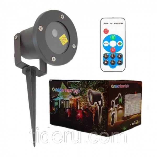 Лазерный уличный проектор (узоры и фигуры) + пульт