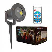 Лазерный уличный проектор (узоры и фигуры) + пульт, фото 1