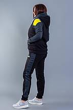 """Теплый женский спортивный костюм-тройка """"Omero"""" с жилетом (большие размеры), фото 3"""