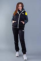 """Теплый женский спортивный костюм-тройка """"Omero"""" с жилетом (большие размеры), фото 2"""
