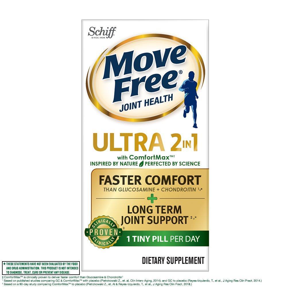 Schiff, Move Free Ultra 2 в 1 для здоровья суставов на основе фруктобората, 30 таблеток