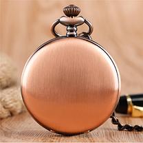 Карманные мужские часы на цепочке медный цвет, фото 3