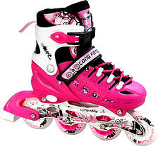 Ролики-коньки Scale Sport. Pink (2в1), размер 34-37, фото 3