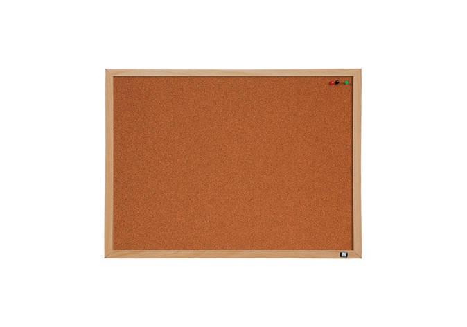 Дошка коркова Optima, розмір 45х60 см, MDF рамка, фото 2