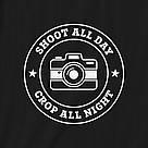 "Футболка ""Shoot all day, cropp all night"" женская, фото 2"