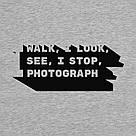 """Свитшот """"I walk, I look, I see, I stop, I photograph"""" унисекс, фото 2"""
