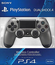 Геймпад PS4 Dualshock 4 V2 Steel Black, фото 3