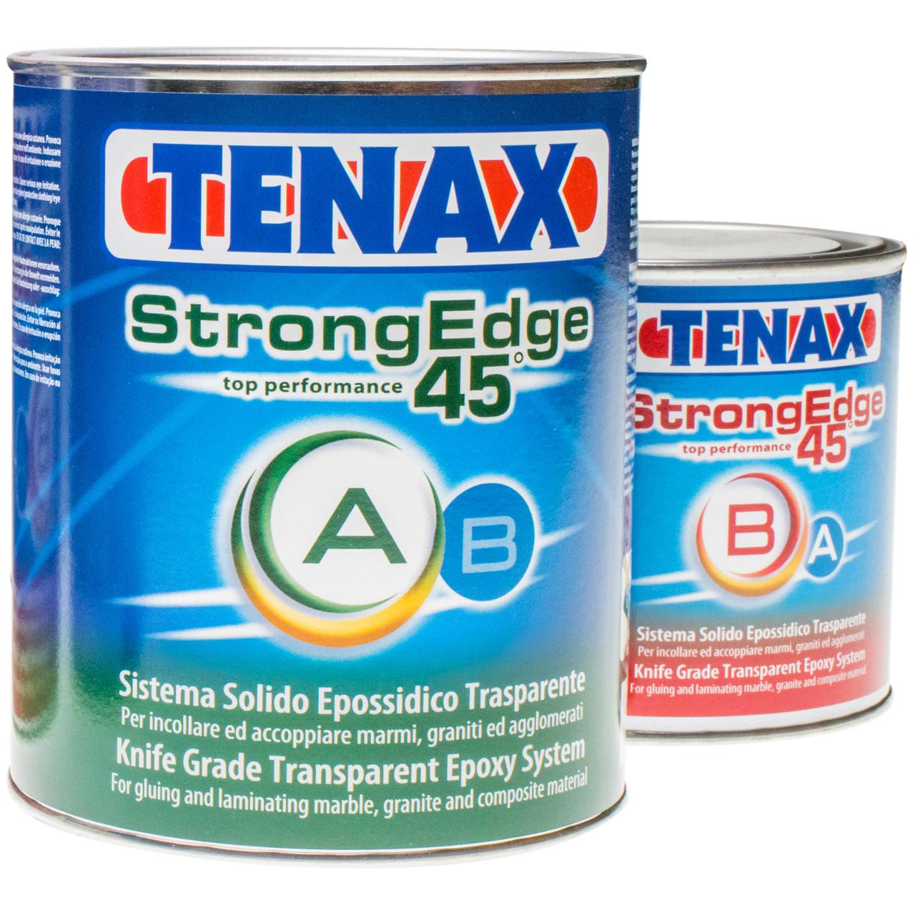 Прозрачный эпоксидный клей для камня StrongEdge 45 A+B (1+0.5 л) TENAX