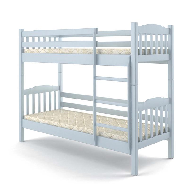 Кровать деревянная двухъярусная 90х200 Бай-бай Mebigrand сосна белый