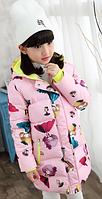 Детское пальто куртка для девочки 130