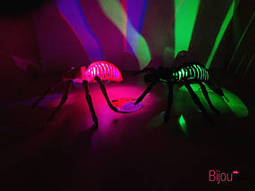 Декоративный светящийся паук для украшения интерьера на Хеллоуин, фото 2