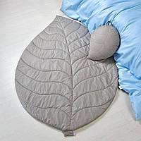 Стеганый коврик и подушка в ассортименте - набор Листочек, фото 1
