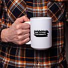 """Подарочная кружка для чая с надписью """"I walk, I look, I see, I stop, I photograph"""", 330 мл керамическая, фото 2"""