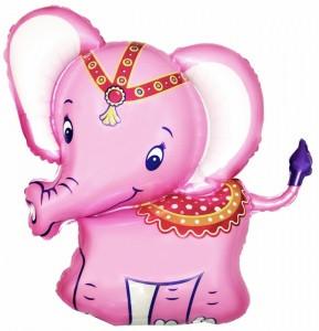 """Фольгований куля Слоненя Рожевий, Flexmetal (Іспанія), 32""""/82 см x 29""""/74"""
