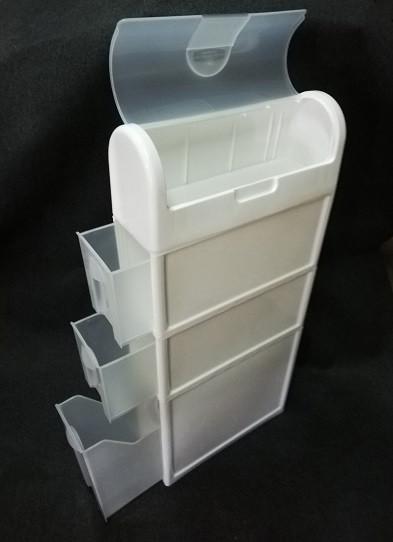Узкий шкаф в ванную, комод пластиковый