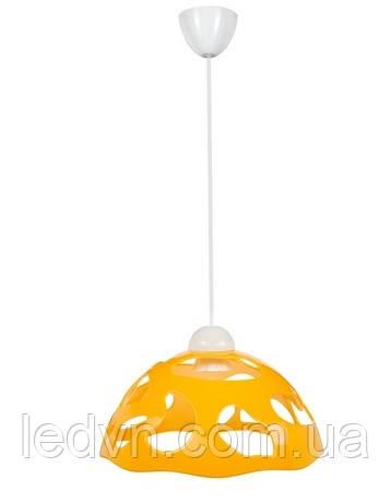 Подвес на одну лампочку желтый и оранжевый Е27