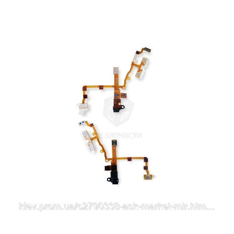 Шлейф для Apple iPhone 3G, iPhone 3GS Original Black Кнопки регулировки громкости, кнопка включения, разъем гарнитуры
