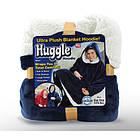 Плед Huggle с капюшоном Ultra Plush Blanket Hoodie Синий, фото 3