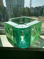 Стеклоблок зеленый угловой Verde Angular Wavy, Италия