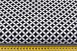 Лоскут ткани с сеткой из лепестков чёрного цвета № 257а, размер 49*80 см, фото 2
