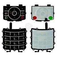 Клавиатура для Motorola RIZR Z3 Оригинал Черный С английскими буквами Верхняя + нижняя
