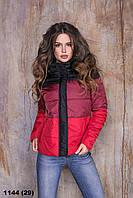 Жіноча куртка коротка стьобаний осіння норма+батал (розміри від 42 по 58) 1144 (29)