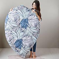 Стеганый коврик и подушка Флора - набор Листочек, фото 1