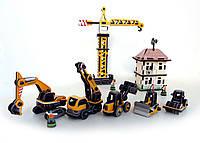Большая Стройка, Набор сборных 3D игрушек, Умная бумага