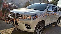 Кенгур высокий хром на Toyota Hilux 2015+ Защита переднего бампера кенгурятник высокий на Тойота Хайлюкс 2015+