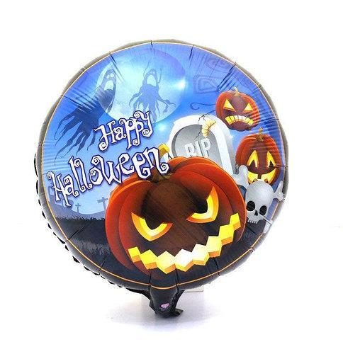 """Фольгированный шар круг Halloween с тыквой 18"""" Китай"""