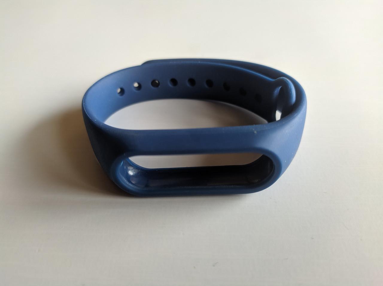 Ремешок Xiaomi Mi Band 2 с рамкой силиконовый браслет Синий [1092]