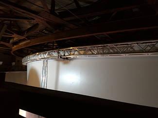 Система управления механизмами подъема экрана диарамы музея на базе 3-х преобразователей частоты Hitachi. 11