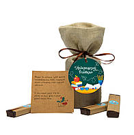 Шоколадный набор с предсказаниями Найкращому вчителю оригинальный подарок учителю