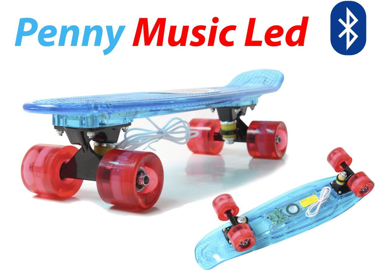 "Penny Board ""Light Music Led"" Blue"