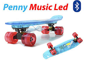 "Penny Board ""Light Music Led"" Blue, фото 2"