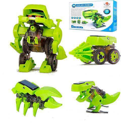 Конструктор динозавр 4 в 1- робот на солнечных батареях