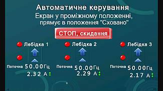 Система управления механизмами подъема экрана диарамы музея на базе 3-х преобразователей частоты Hitachi. 15