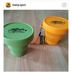 Стакан складаний силіконовий з кришкою Tramp 180ml orange, фото 2