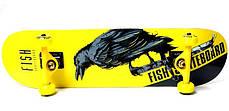 СкейтБорд деревянный от Fish Skateboard raven оптом, фото 2