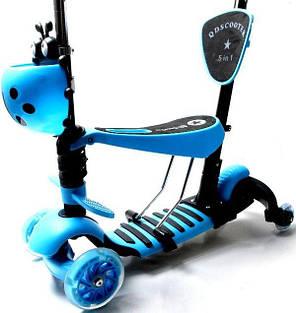 "Самокат Scooter ""Божья коровка"" 4in1 Blue (4-х колесный), фото 2"