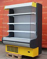 Холодильна гірка (Регал) «Росс Modena» 1.4 м. (Україна), прозорі бічні скла, Б/в, фото 1