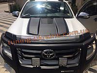 Дефлектор капота на Тойота Хайлюкс 2015-2019 Мухобойка на капот для Toyota Hilux 2015-2019