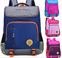 Оригинальный школьный рюкзак ранец розовый, синий 260