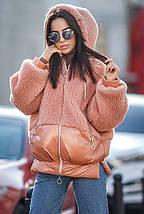 Куртка молодіжна плюш з капюшоном Тедді різних кольорів еврозима 44-48 р, фото 2