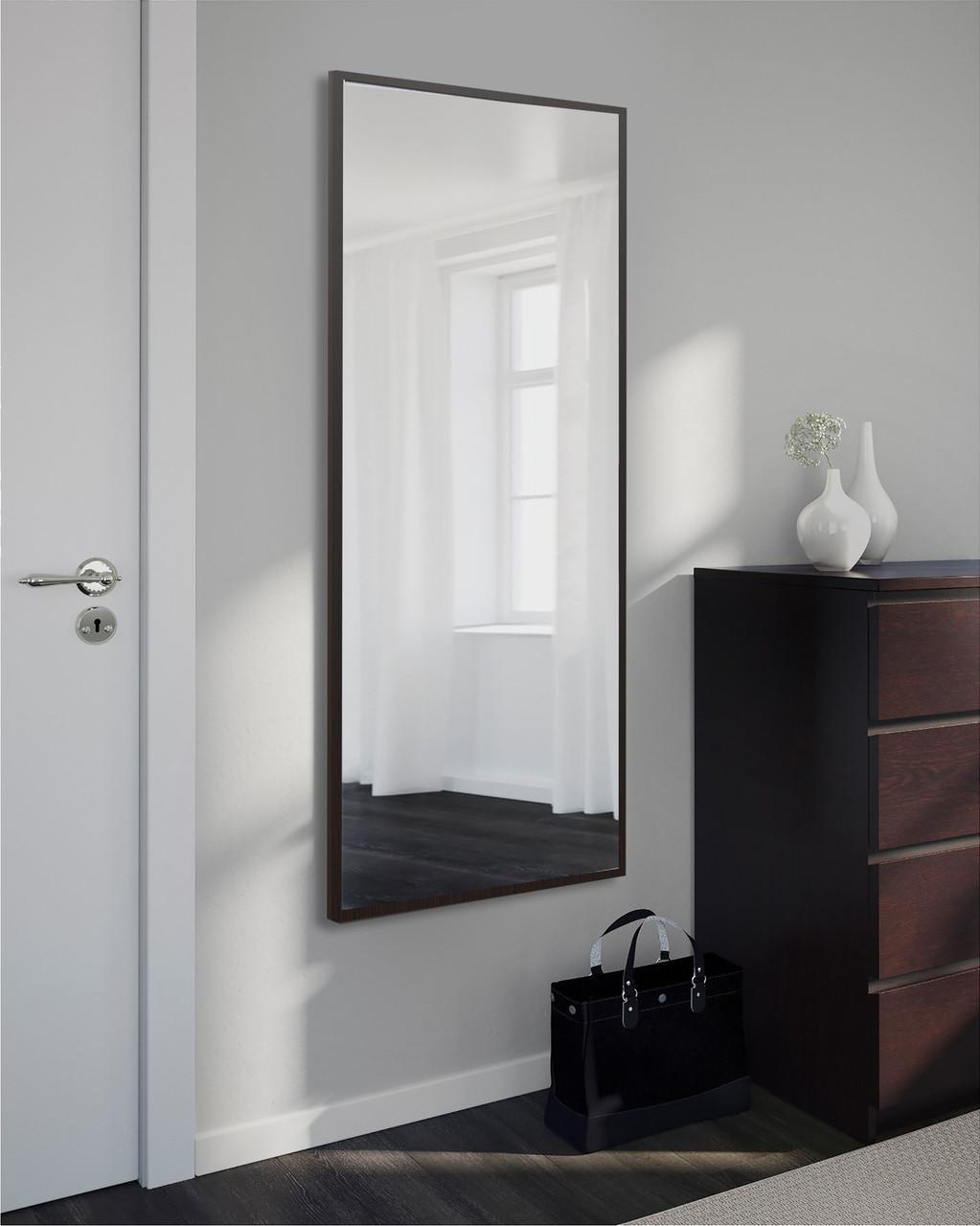 Зеркало настенное, прямоугольное, венге 1300 х 600