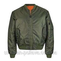 Мужская куртка  демисизоная   МА-1  бомбер    цвет  олива    Mil-Tec  Германия  Размер- L