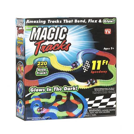 Magic Track на 3 батарейки 220 деталей Гоночный трек, фото 2