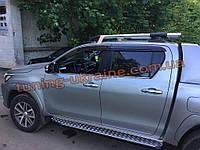 Релинги  с поперечинами в сборе на Тойота Хайлюкс 2015+ Рейлинги на крышу с перемычками на Toyota Hilux 2015+