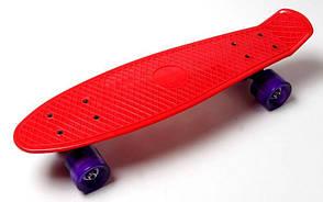 Penny Board. Red. Светящиеся фиолетовые колеса., фото 3